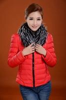 New Arrival Eiderdown Outerwear Long-Sleeved Lady Warm Fur Collars Eiderdown Cotton Coat High Quality Women's Coat A04
