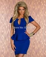 Fashion Women Lady Clothing Sexy Clubwear Dresses Bodycon Dress Vestidos, Black, White, Red, Blue, M, L, XL, XXL
