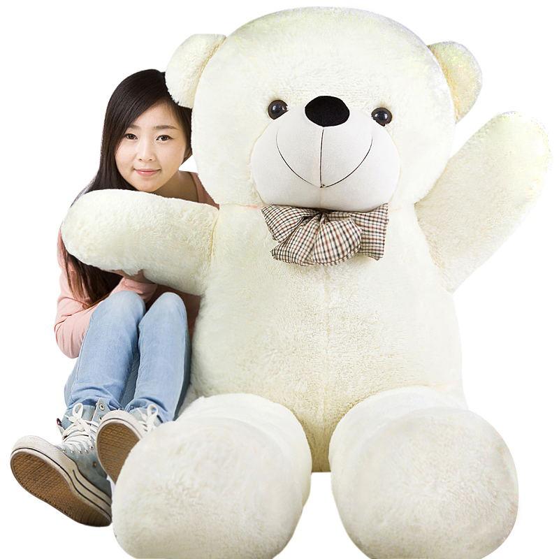 Doll cloth doll plush toy bear Large birthday gift female doll giant panda 80 cm(China (Mainland))