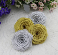 Dia 6CM Mini Manual Roses Promotion 2014 Special Wedding/Gift Decoration Ribbon Flower/All Of Roses Made Once Your Order Placed