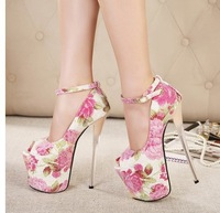In The Summer Of 2014 New 19CM High Heeled Shoes, Waterproof Plotform Crystal With Shallow Fish Mouth Sexy Ladies  Shoes 8072