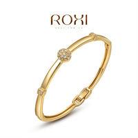 2014 Sale Gem Jewelry 2014roxi Brands Women Bangles,fashion Jewelry,rose Plate,austrian Crystal,chrismas/valentine's Day Gifts