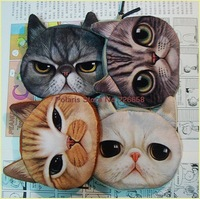 X- DOLL 2014 new cute animal pattern fashion bags cat printing , card , cosmetic bags ( Size:  L 12.5*12.5 cm )