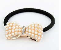 Minimal mix styles $5 Top selling Cute Small Bowknot Elastic Hair Bands Free Shipping A7R1