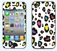 Free shipping 1pcs Colorful dot Screen Protector For iphone5 5s Relief Frosted pattern noctilucent