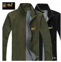 Men's fleece fleece Men's collar leisure cardigan coat