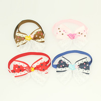 Armi store Handmade Beauty Pattern Ribbon Dog Tie #a31001 Pet Collars Bows Wholesale.