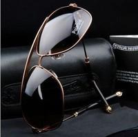 2014 New Fashion Classic Men Sunglasses yurt coated Polarizer glasses retro fashion sunglasses driver mirror Male Sun Glasses