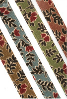 "free shipping printed ribbon 100% cotton ribbon 3/8"" width flower  printed ribbon 20yards/roll moq is 1roll"