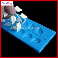 New 1PC Leaf Silicone Fondant Mold, Silicone Lace Mold for Fondant Cake Decorating DIY Mold Baking Tool