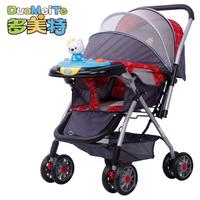 Baby stroller baby car light folding trolley shock absorbers four wheel baby stroller two-way