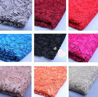 Free Shipping 100*120cm high Quality 3D Water-soluble Crochet Cutout Lace Fabric high quality water soluble floral lace fabric