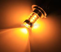 Free shipping, 2pcs 80W H16 16 LED High Power Amber/Amber fog Light  Foglight DRL Daytime Running Bulb 12V 24V