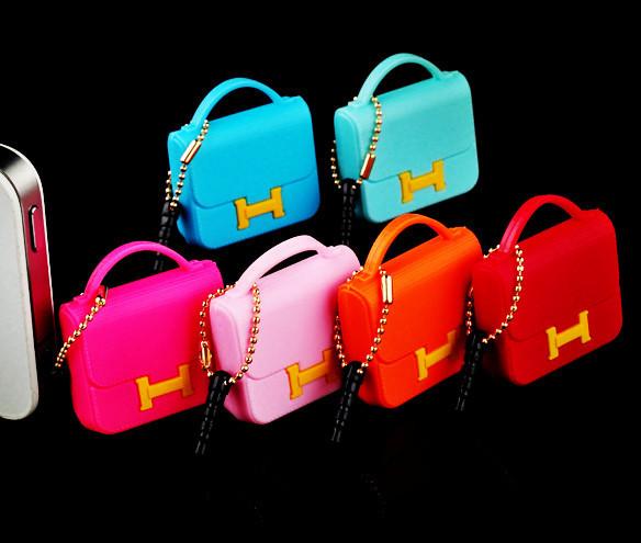 free shipping ks designers name brand kawaii mini women handbag headphone anti dust plug for phone/kpop cute bag earphones cap(China (Mainland))
