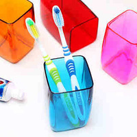 Creative Living lovers Creative gargle cup candy color bathroom wash gargle cup Plastic toothbrush cup