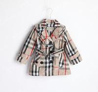 2014 hot Sale fashion brand children girls 2-6years coat 5pcs/lot Children clothing coat Kids clothes autumn wear