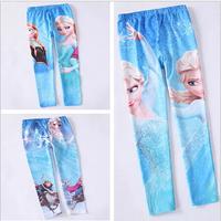 3-9years Retail Children's Frozen Printing Leggings Girl's pants Children pants Pencil Pant Trousers,baby girl leggings pant