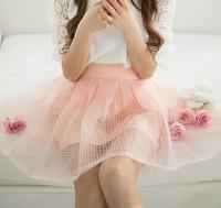 2014 women's small fresh sweet gauze bust skirt short skirt female chiffon skirt organza