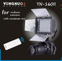 Yongnuo YN-160 II LED Video Light w/Condenser MIC + Luminance Remote Control  for nikon conan