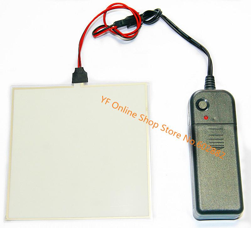 (Aqua,Blue-Green)10x10cm EL Backlight, EL Panel + 3V Inverter+ Free Shipping(China (Mainland))