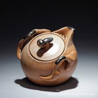 Yixing stoneware teapot, antique teapot, tea set, ceramic pots, pure handmade, coarse pottery, hand pot , wholesale~