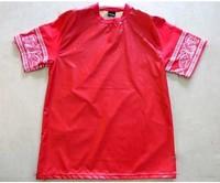 mens t shirts fashion 2014 hip hop factory connection clothing red leather shirt men pyrex xxxl red bandana shirt