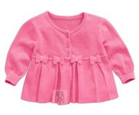 Summer Children's 100% cotton cute bow thin sweater