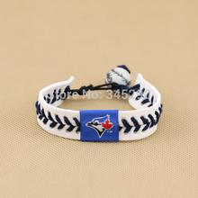 popular leather baseball bracelet