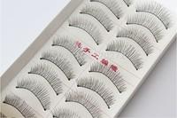 Free shipping!100 Pairs Handmade Fake False Eyelash Natural Look Transparent Stem 217