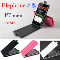 Free Shipping elephone p7 mini Leather Case, Good Quality UP and Down Leather Case for elephone p7 mini Cellphone