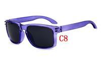 C8  Purple Frame Unisex women Men Eyeglasses Outdoor Glasses Retro Sunglasses 12 colors