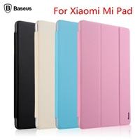For XIAOMI MIUI MiPad!Baseus Simplism Three Fold Series Smart Sleep Flip Cover Protective Leather Case For Mi Pad Free Shipping