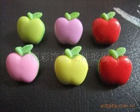 free shipping  Wholesale cartoon children color cute Larry apple-shaped button buttons wooden buttons  sewing  scrapbook
