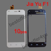 10pcs/lot  White Original JY-F1 Jiayu F1 Touch Screen Digitizer Replacement for JIAYU F1Touch Panel phone White +TRACKING CODE