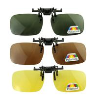 3x Men Women Polarizer Polarizing Lens Convenient Clip On Night Vision Myopia Glasses Sunglasses