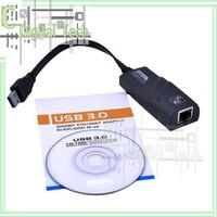New Arrival New USB 3.0 To 10/100/1000Mbps Gigabit Ethernet RJ45 External Lan Adapter Convert Free shipping &wholesale