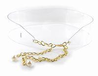 Designer Plastic transparent women's waist chains Belt Corset Free Shipping JZ051709
