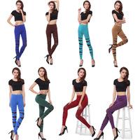 Chic Slim thin colored leggings milk silk bandage leggings pantyhose/LS-116 +Free shipping