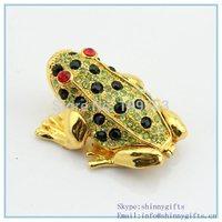 Diamond frog shape trinket box for jewelry SCJ978