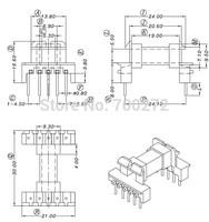 EEL19 transfoemer ferrite core and bobbin  YT-1907-1