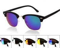 SG 018 Fashion Unisex Retro Metal Frame Sunglasses Rivet Eyeglasses Spectacles Mirror Lens