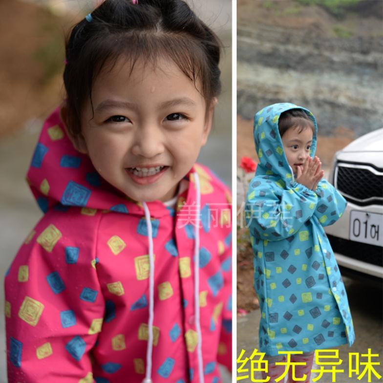 2014 Children's Raincoats Rainwear Child Poncho Fashion Kids Rain Jacket Baby Boys And Girls Waterproof Jacket Green Cloak S-XXL(China (Mainland))