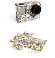 Gopro Hero 3+ 3 Camera Cam Sticker Paper Flower Fashion Housing Case Sticker for Go pro HD 3 Plus Accessories