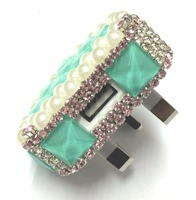 Bling USB bling Charger USB Adapter 1000mah Colorful Car Charger for ipad iPhone 5 5C 5S 4S Samsung