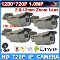 4PCS 1.0 MP HD 720P IP camera  IR Cut Night Vision cctv Outdoor Security Surveillance IP Network Camera DHL shipping