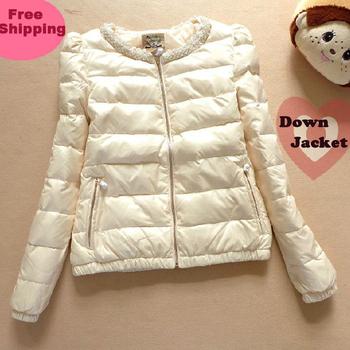 winter jacket Женщины down & parkas Модный Lady's Короткий Beading down jackets ...