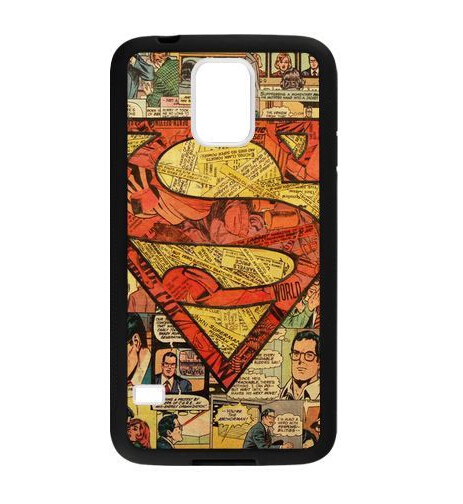 Free shipping Fashion popular cool hot sale Superman Comic Book Silicon Soft TPU case for Samsung Galaxy S5 i9600(China (Mainland))