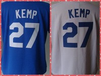 2014 New Womens #27 Matt Kemp Blue/White Baseball Jersey,Ladies Athletic Shirt,Stitched Logo Names S-XXL