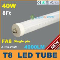 40W T8 LED Tube Light 8ft 2400mm 2.4m FA8 LED fluorescent tube lamp SMD2835 High brightness 4000LM AC85-265V CE RoHS