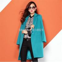 2014 new women's winter wool coat female windbreaker jacket wild woolen material European style